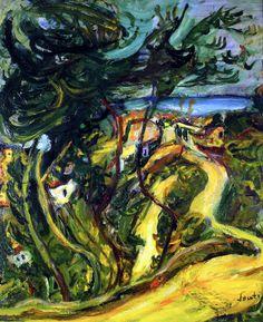 Landscape of Cagnes  Chaim Soutine - circa 1922