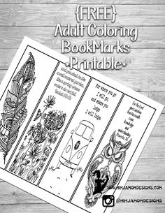 {FREE} Adult Coloring Scripture Book Marks- Printable