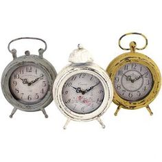 Emily Table Clock (Set of 3)