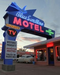 Blue Swallow Motel, Route 66 - Tucumcari, New Mexico (newer signage)
