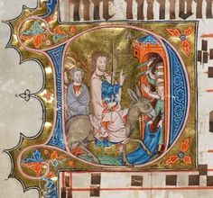 Graduale oesa, Proprium de tempore, pars hiemalis 1330-1335 Illuminated Letters, Illuminated Manuscript, Birth Of Jesus, Book Of Hours, Medieval Art, Palermo, Renaissance, Initials, Nerd
