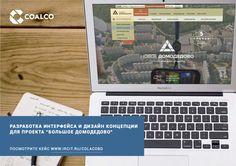 Разработка интерфейса и дизайн концепции для проекта «Новое Домодедово»