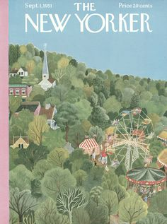 The New Yorker - Saturday, September 1, 1951 - Issue # 1385 - Vol. 27 - N° 29 - Cover by : Ilonka Karasz