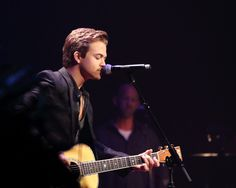 Hunter performing at the Ryman Auditorium in Nashville. Honestly, he looks perfect. | via Larry Darling-Flickr