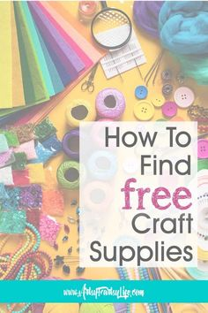 Cheap Craft Supplies, Paper Craft Supplies, Craft Supplies Online, Arts And Crafts Supplies, Stuff For Free, Free Stuff By Mail, Crafts To Make, Crafts For Kids, Freebies By Mail