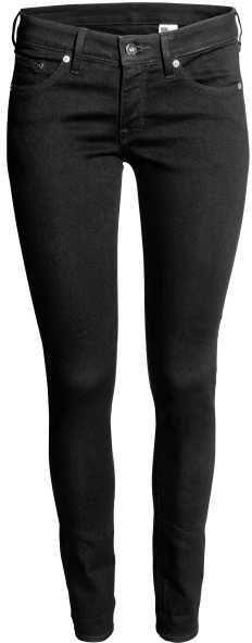 H&M - Super Skinny Low Jeans - Black denim - Ladies