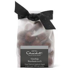 100% Dark Chocolate Gianduja Hazelnuts,