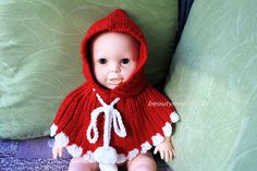 #Sweater#knit#baby poncho#girl baby shower gift