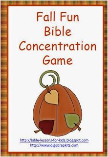Bible Lessons for Kids: Fall Fun Bible Concentration - Free Printable Game