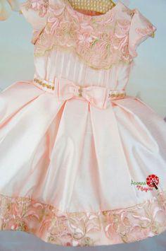 Vestido Infantil de Festa Rosa Realeza Petit Cherie