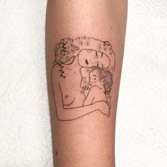 Dainty Tattoos, Baby Tattoos, Line Tattoos, Small Tattoos, Cool Tattoos, Klimt Tattoo, Yogi Tattoo, Temple Tattoo, Vegan Tattoo