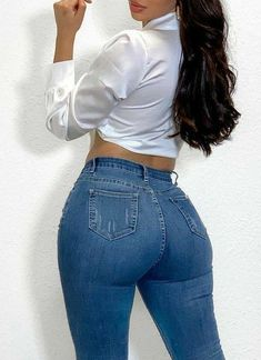 Sexy Leggings Outfit, Girls In Leggings, Girls Jeans, Best Jeans For Women, Pants For Women, Superenge Jeans, Skinny Jeans, Sweet Jeans, Curvy Girl Outfits