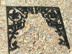 TWO Black Cast Iron Corbels Braces Heavy by NafeIronWorksDesign, $69.99