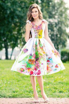 Hand-painted Dresses | Модный Дом August van der Walz Hand Painted Dress, Van, Disney Princess, Vintage, Dresses, Style, Fashion, Vestidos, Swag