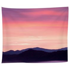 Rocky Mountain Sunset Tapestry