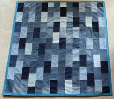 Quilts From Jeans | denim quilt made from old jeans