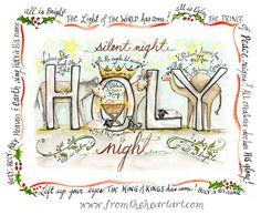 Christmas Holy Night Print