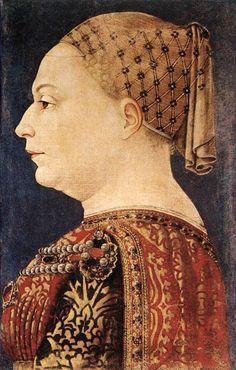 Portrait of Bianca Maria Sforza by Bonifazio Bembo