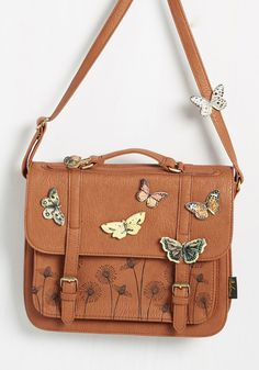 I'd Like to Mariposa Question Bag by Disaster Designs - Faux Leather, Brown, Boho, Scholastic/Collegiate, Woodland Creature, Summer, Better, 70s