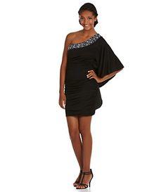 Roberta One-Shoulder Beaded Dress   Dillard's Mobile