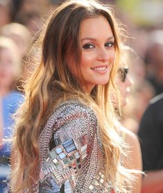 Leighton Meester… Perfect hair, make up & studs to complete the look…