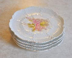 Vintage Salad/Desert/Bread Plates 7.25 Inches by OnMuskratCreek