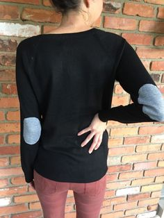 Fierro Elbow Patch Crew Neck Sweater