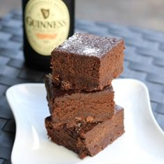 Fudgy brownies with a whole lot of Guinness in them.