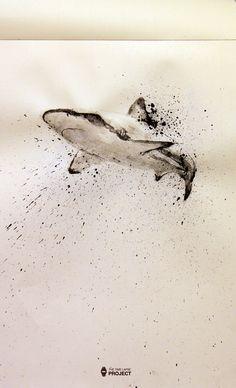 Este es el 22º vídeo del proyecto, un tiburon con tinta china. Para ver el proceso leed la noticia entera que hay vídeo incluido. This week I add the 22th post for the project. It is a shark done in chinese ink.