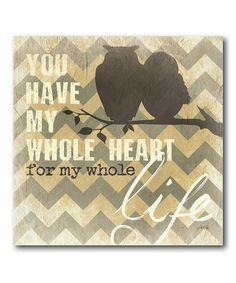 Take a look at this Owl Type I Canvas Art by COURTSIDE MARKET on #zulily today!