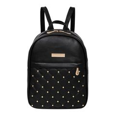451822221cda  21.02 - Cool MOJOYCE Casual Travel Bead Backpack for Teenage Girls PU  Leather SchoolBag Backpack Mochila