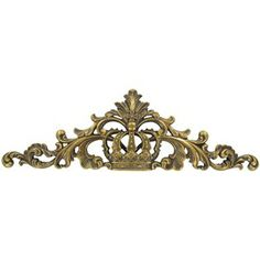 Gold Crown Wall Plaque with Swirls | Shop Hobby Lobby  - Spray paint black?