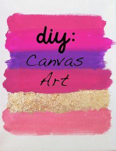 Canvas Art DIY with gold leaf