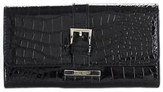 M_9W_Wallet_Crackle_Blk (Black Crocco) Nine West. $19.00