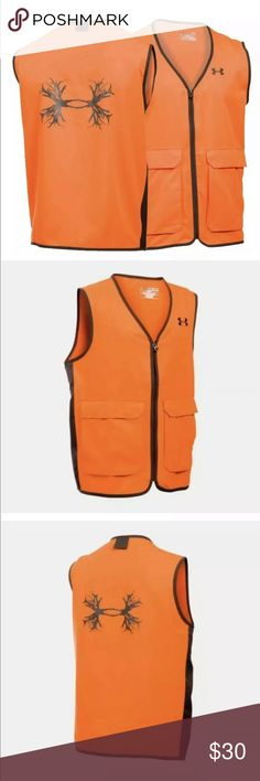 ce59b24080953 Under Armour Boys' Blaze Antler Logo Hunting Vest Armour Blaze Orange  Antler Hunting Ves Condition