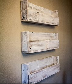 Reclaimed Wooden Shelves i like the old fashion look to it and how simple it looks