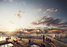 NORD Wins Competition to Design Marine Education Center in Malmö,View from sea. Image © NORD Architects