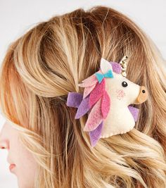 How To Make A Felt Unicorn Barrette