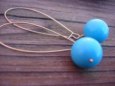 Turquoise fashion earrings