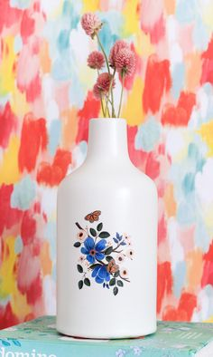 Dress up a dollar-store vase with an inexpensive temporary tattoo. | 5…