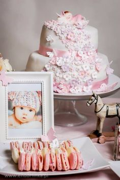 Cake for christening party
