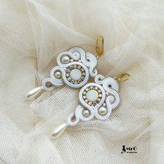 Daphne  soutache earrings . Wedding earrings  by MrOsOutache