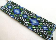 Mexican Huichol Loom Beaded Bracelet by Aramara on Etsy