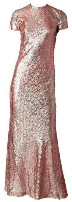 Bill Blass Pink Blush Dress, 1970s