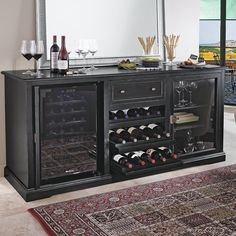 Wine Enthusiast Siena Credenza Nero 335 01 04 Cabinets Bar Cabinet