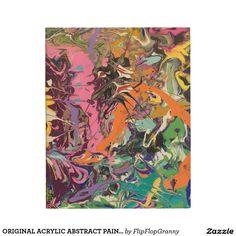 ORIGINAL ACRYLIC ABSTRACT PAINTING WOOD WALL ART