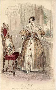 4314402652 3c3b884140 1834 Court Magazine engraved fashion paper ~ Evening Dress O
