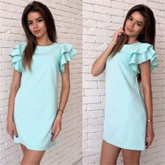 Cheap dress vestidos, Buy Quality sleeve dress directly from China butterfly sleeve dress Suppliers: 2017 Womens Summer Casual Style Butterfly Sleeve Dress Red Blue Yellow Sexy Backless Beach Mini Party Club Dresses Vestidos Short Beach Dresses, Sexy Dresses, Casual Dresses, Short Sleeve Dresses, Loose Dresses, Mini Dresses, Long Sleeve, Elegant Dresses, Look Fashion