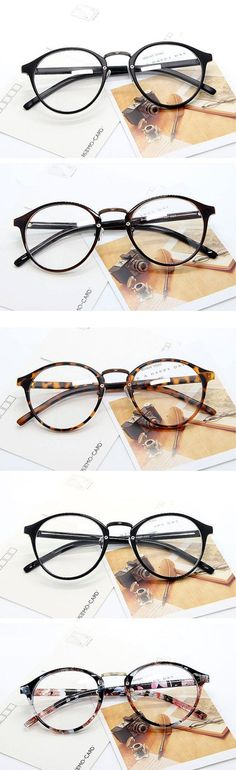 5be778fa966 UVLAIK Fashion Optical Glasses Frame Glasses With Clear Glass Men Women  Brand Round Clear Transparent Women s Glasses Frames