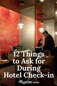 tips Great tips for what to ask for when you check into a hotel.hotel tips Great tips for what to ask for when you check into a hotel. Travel Info, Travel Packing, Travel Advice, Travel Tips, Travel Hacks, Packing Tips, Travel Ideas, Travel Checklist, Vacation Trips